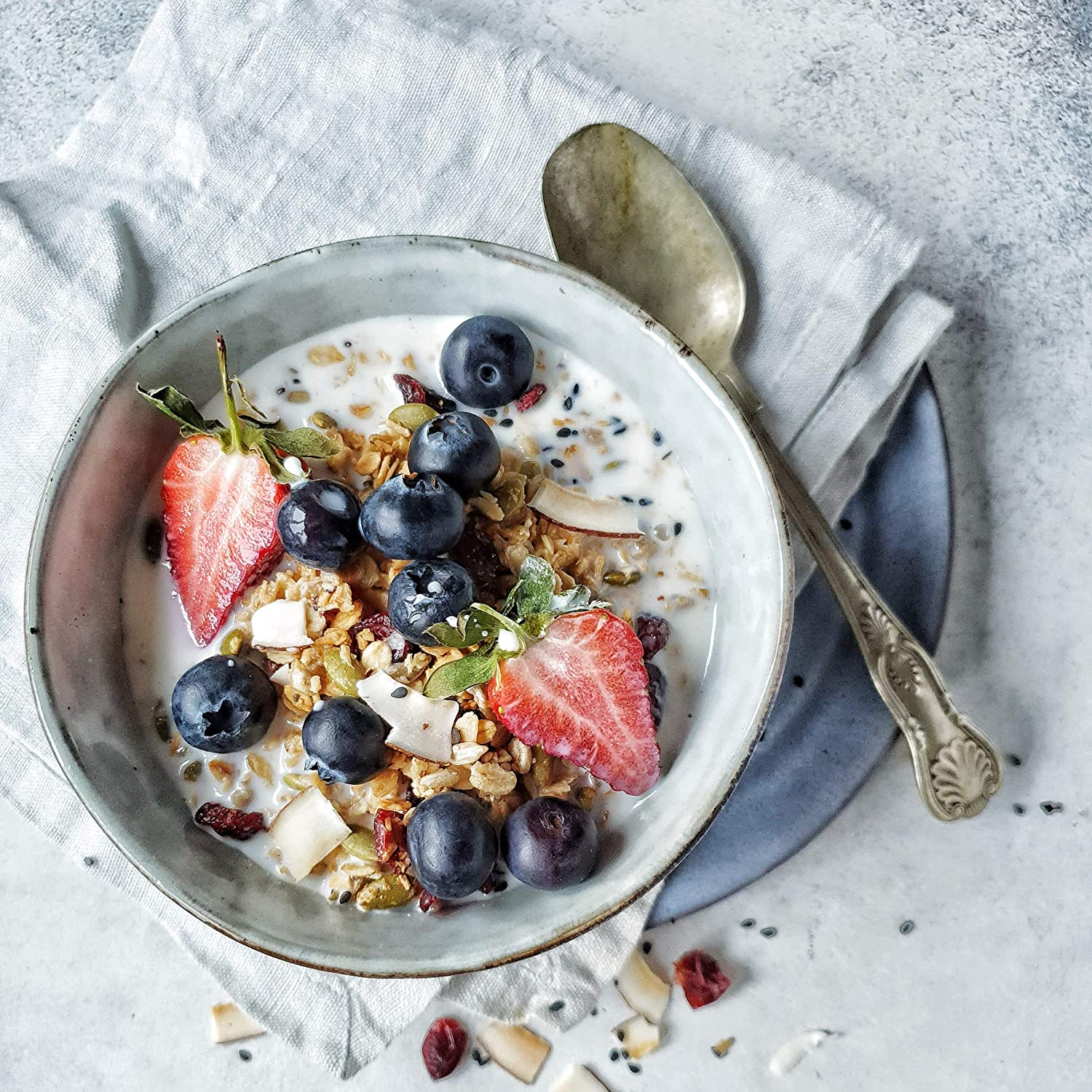 Cranberry, Coconut and Chia Seed Granola 1 Kg - No Gluten, Wheat, Dairy, Refined Sugar or Salt -