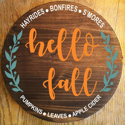 What a sweet Stencil hello fall is so much FUN to use!