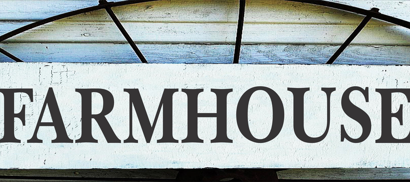 Farmhouse Stencils are so much Fun to use. This Farmhouse Stencil is perfect for a touch of FARMHOUSE in your your Home.