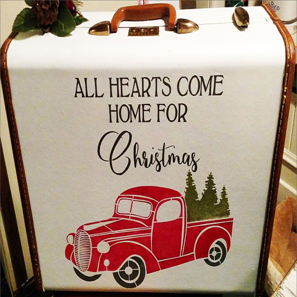 All Hearts Come Home Christmas Stencil - Christmas Stencil - Superior Stencils