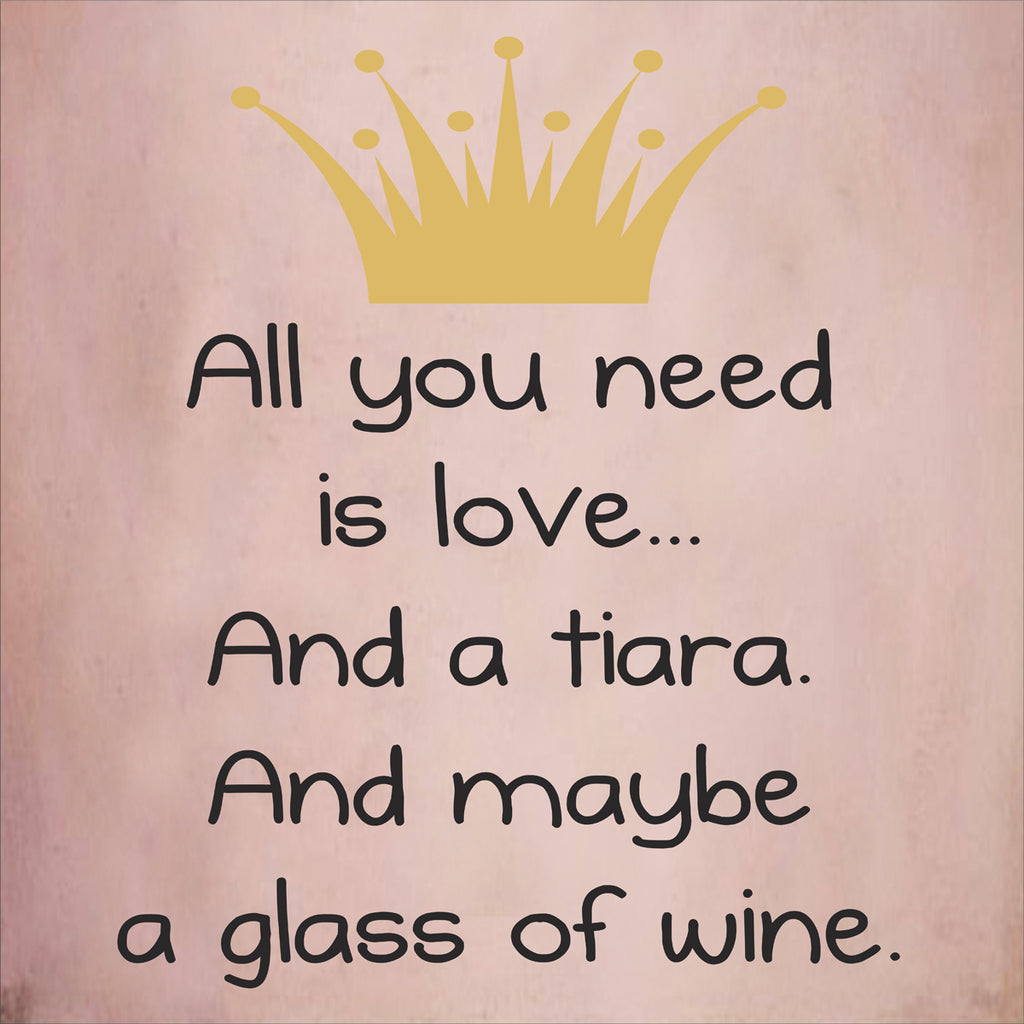 All you need is Love and Wine Stencil - Superior Stencils