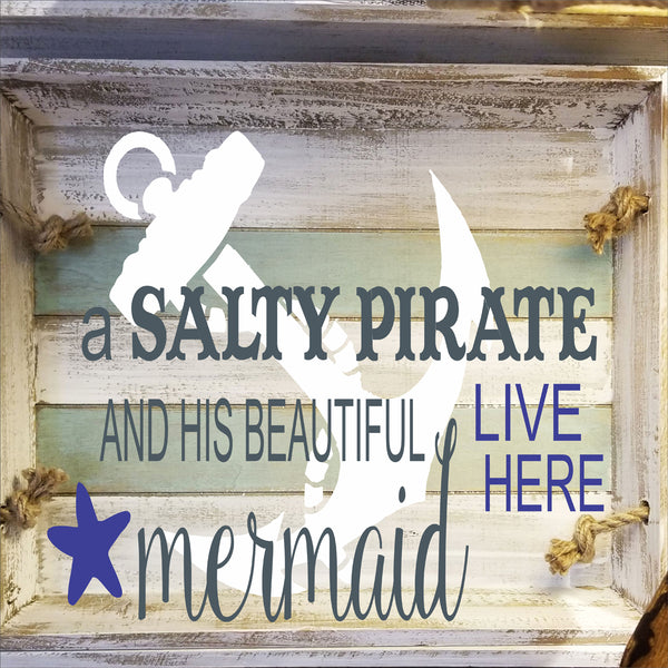 A Salty Pirate and his Mermaid Stencil - Superior Stencils
