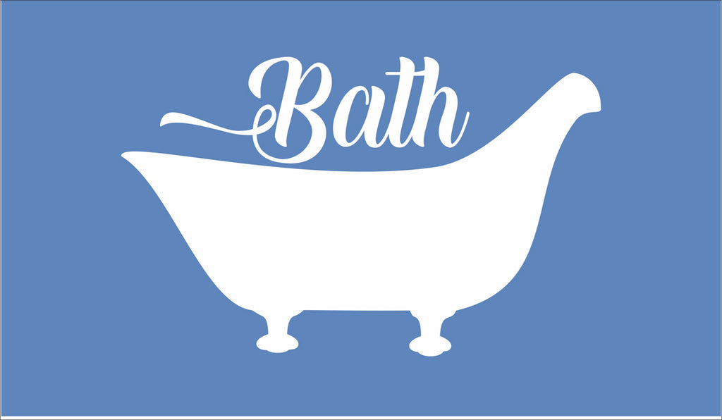Bath with Antique Tub Stencil - Superior Stencils