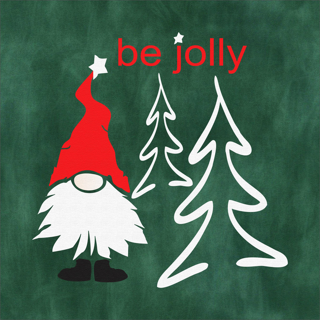Be Jolly - Christmas Gnome Stencil - Superior Stencils