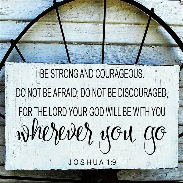 Be Strong and Courageous Joshua 1:9 Stencil - Superior Stencils