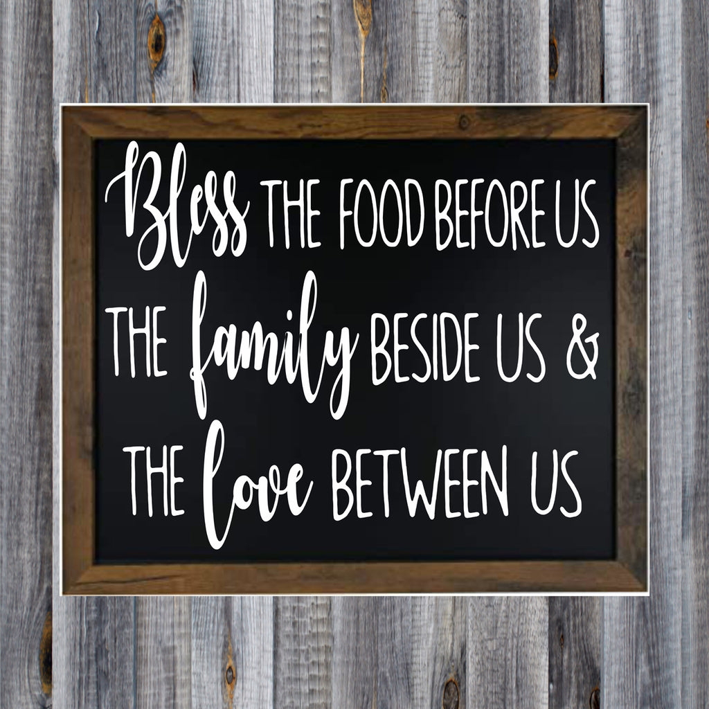 Bless The Food Before Us Stencil - Superior Stencils