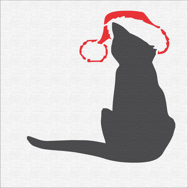 Christmas Cat Stencil - Superior Stencils