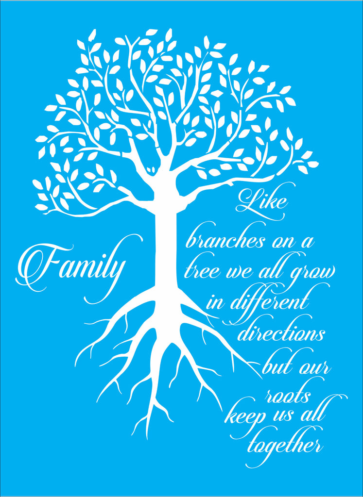 Family Like Branches on a tree Stencil - Superior Stencils