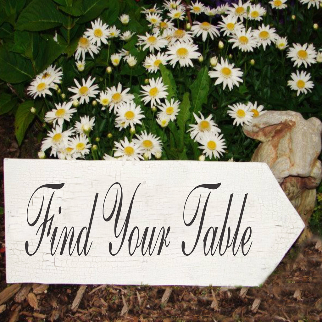 Find Your Table Wedding Stencil - Superior Stencils