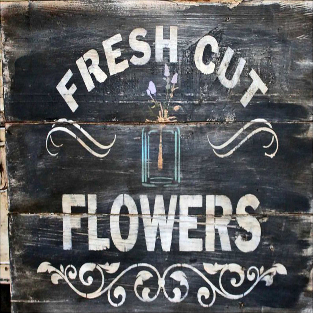 Fresh Cut Flowers Stencil - Superior Stencils