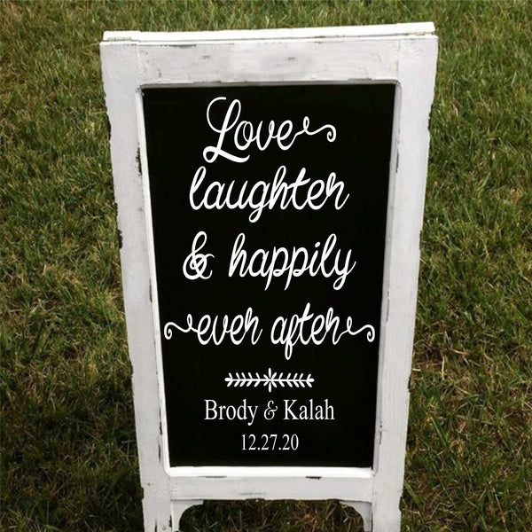 Love Laughter & Happily Ever After Custom Stencil - Superior Stencils