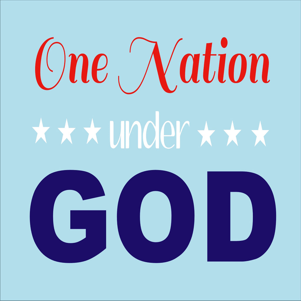 One Nation Under GOD Stencil - 7 Sizes Available - Superior Stencils