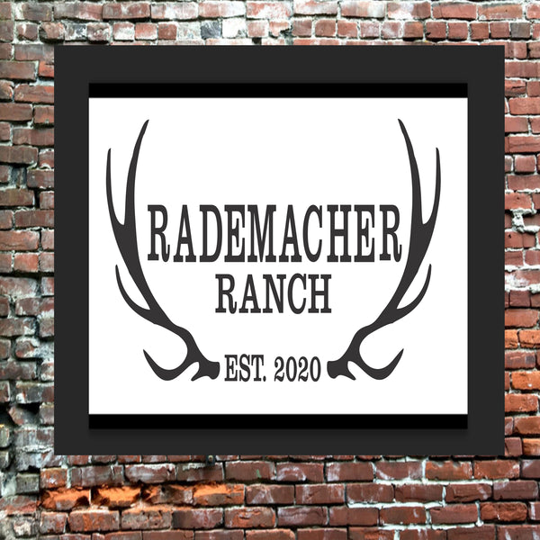 Custom Family Name Antler Stencil - Superior Stencils