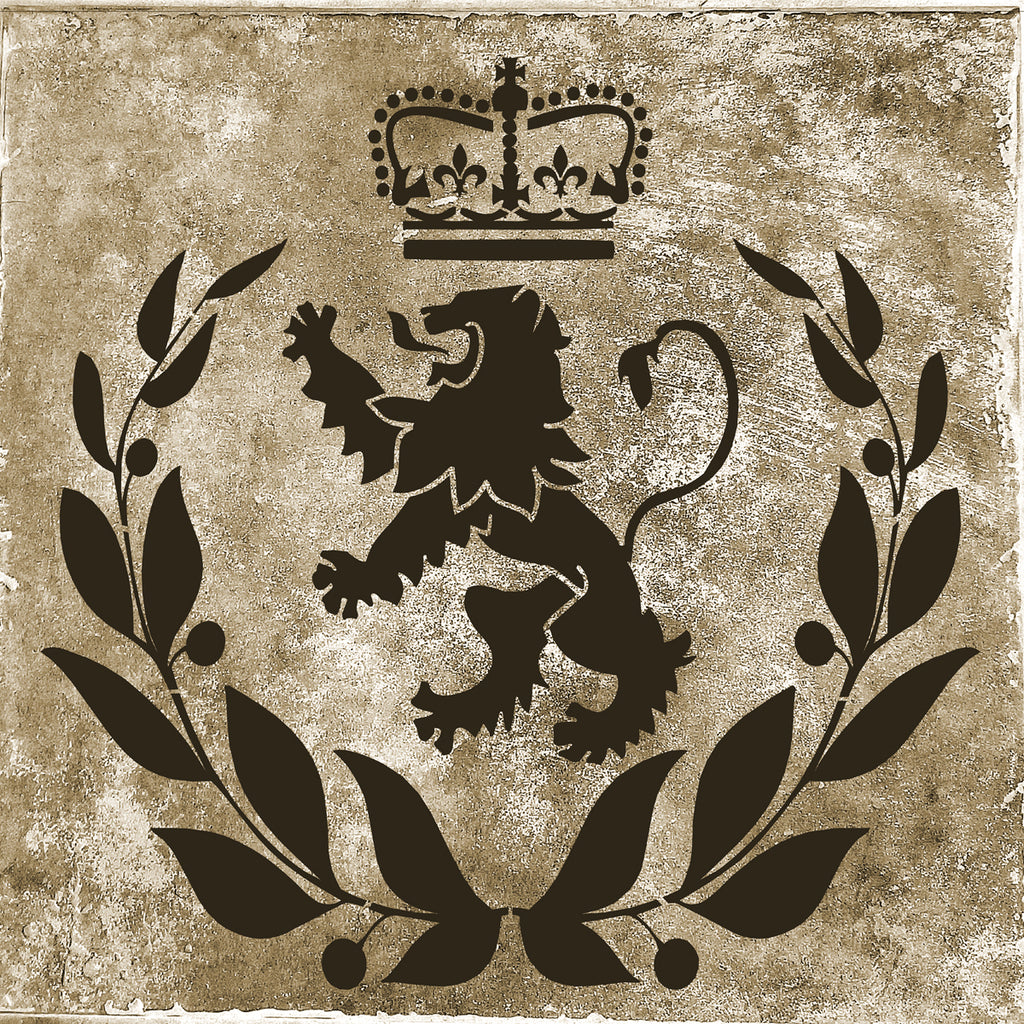 Royal Lion Stencil - Superior Stencils