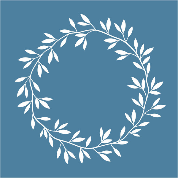 Wreath Stencil Design 02 - Superior Stencils