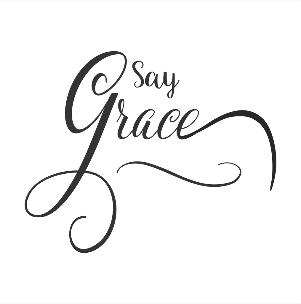 Say Grace Stencil - Superior Stencils