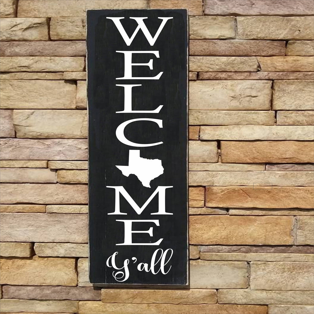 Custom WELCOME Y'all YOUR State Stencil - Texas Stencil - Superior Stencils