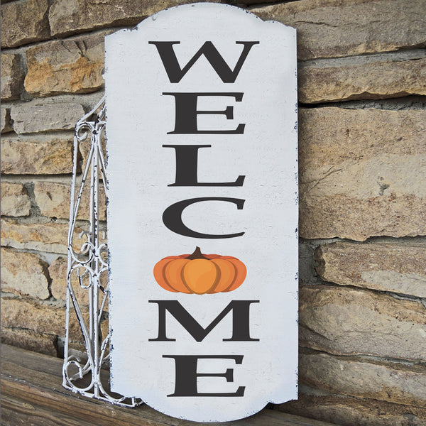 Welcome Stencil Vertical Fall Stencil - Superior Stencils