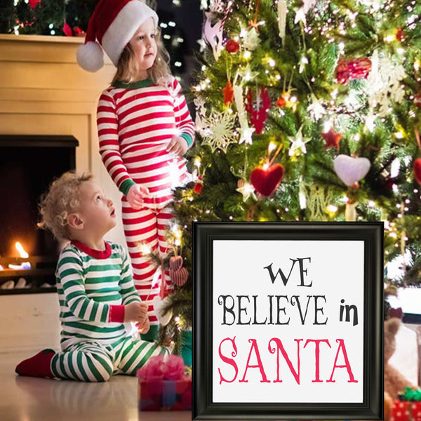 We Believe in SANTA Stencil - Superior Stencils
