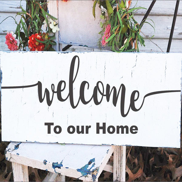 Welcome To our Home Stencil or Welcome to our Porch Stencil - Superior Stencils