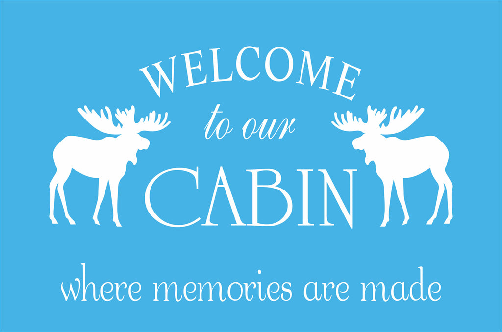 Welcome to our CABIN Custom Stencil - Superior Stencils