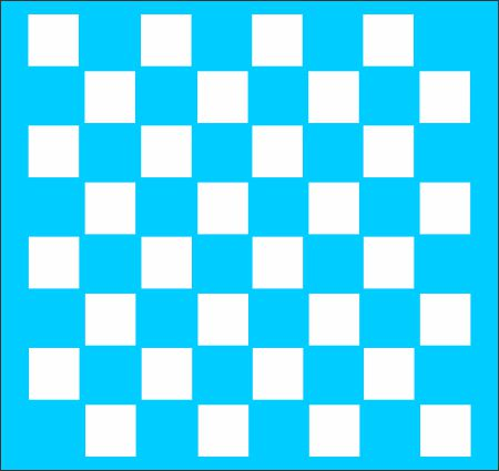 Checker Game Board Stencil - Superior Stencils