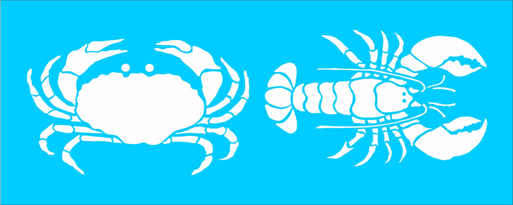 Lobster and Crab Stencil - Superior Stencils