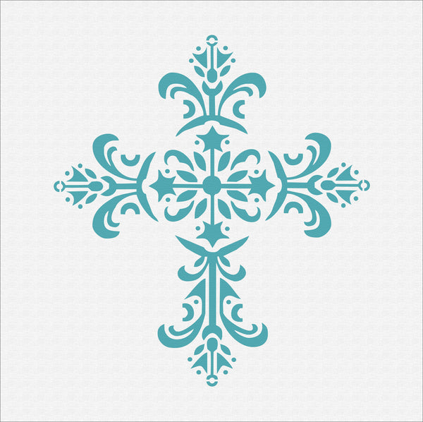 Cross Stencil - Decorative Cross Stencil - Superior Stencils