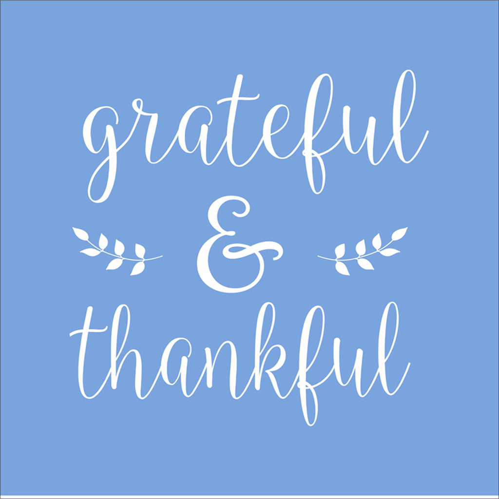 grateful & thankful stencil - Superior Stencils