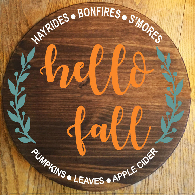 hello fall Stencil - Superior Stencils