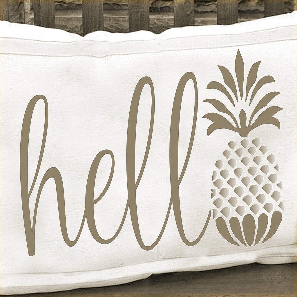 hello Pineapple Stencil - Superior Stencils