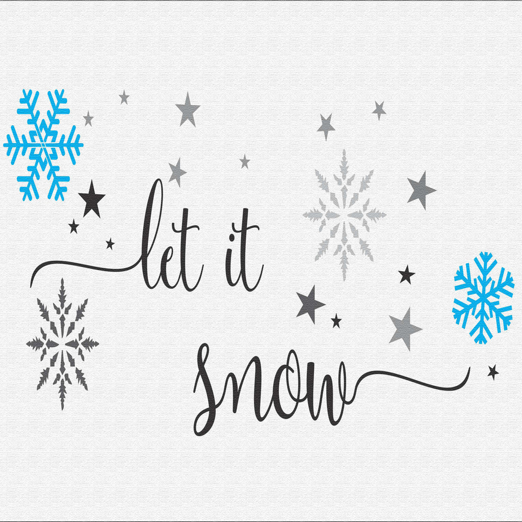 Let it snow Stencil with Snow - Superior Stencils