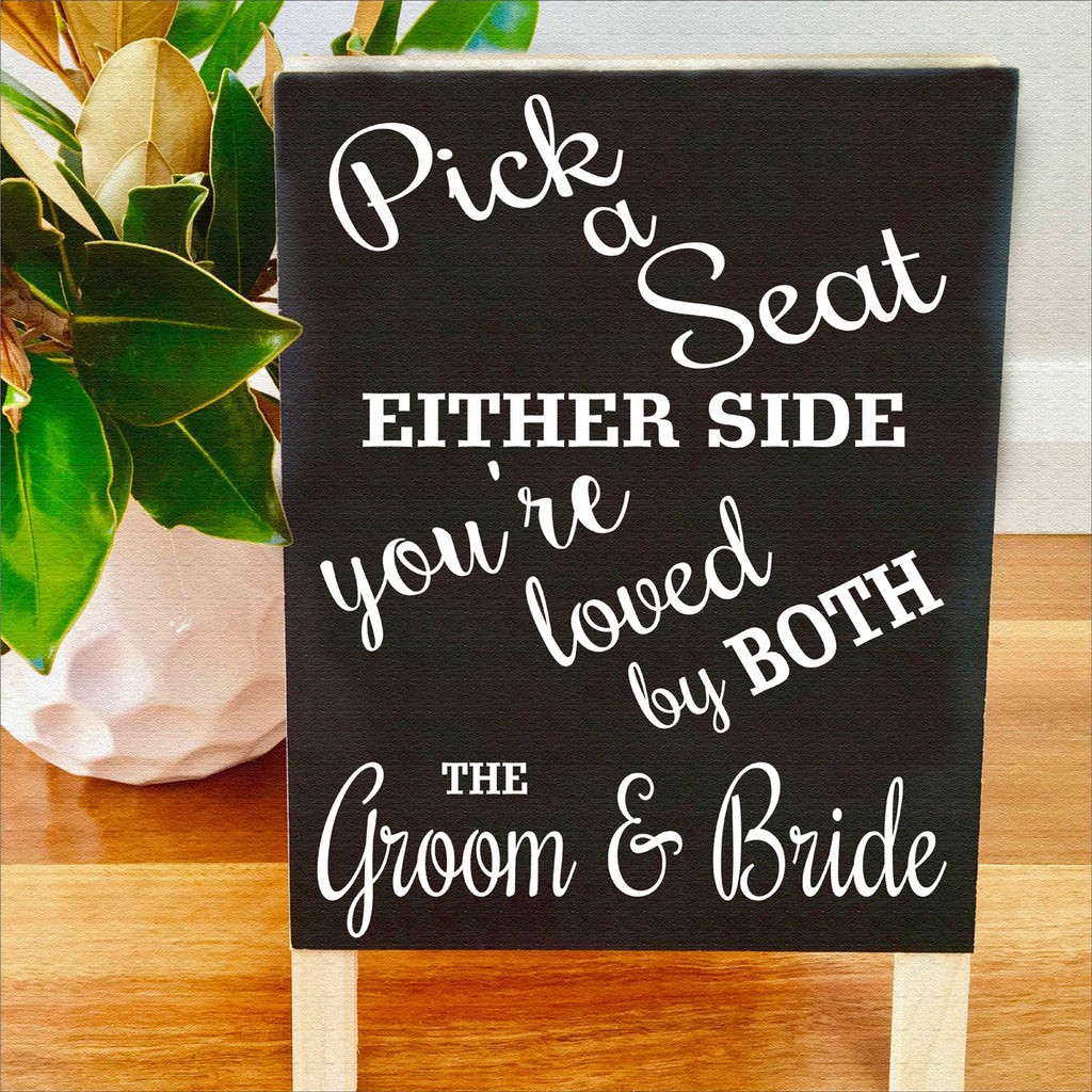 Pick a Seat Wedding Stencil Choose a Seat Stencil - Superior Stencils