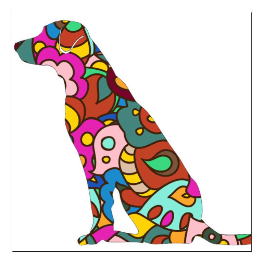 Groovy Retriever Canvas Wraps