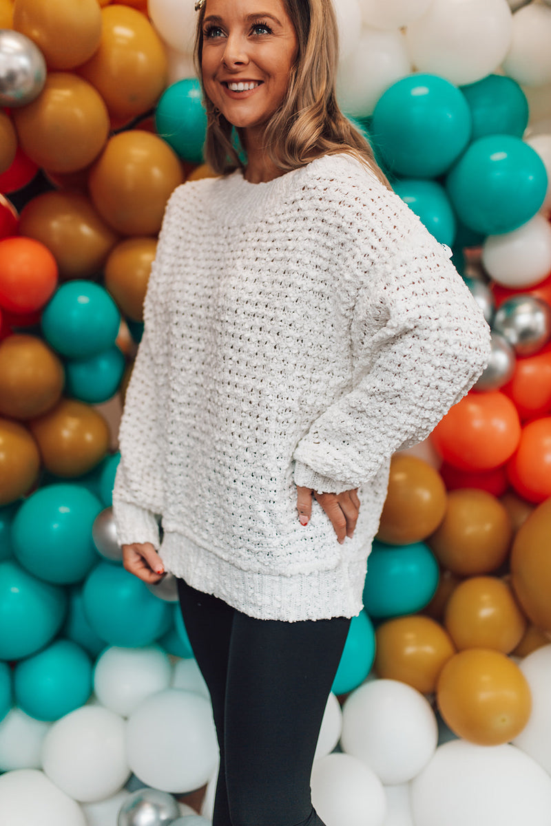 Smooth Talker White Sweater