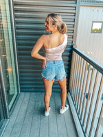 Tie Dye One-Shoulder Bodysuit