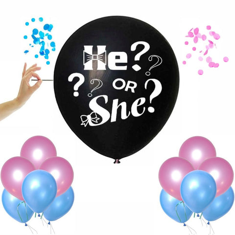 "Gender Reveal Giant Balloon Set - ""He or She"""