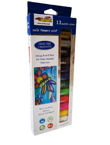 Paint Sticks Metallic Color 12 Assorted - No Mess Paint