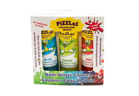 FiZZLeS 3-Pack Colourful Bath Magic for Kids