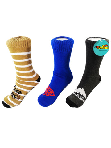 Adult Slipper Socks With Non Slip Grip Pads - Assorted Pack of 3 - Super Dad