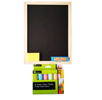 Chalk Board & 6 Jumbo Colour Chalks Set - 30cm x 23cm