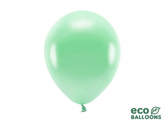 Eco ballon metallic mint (10st)