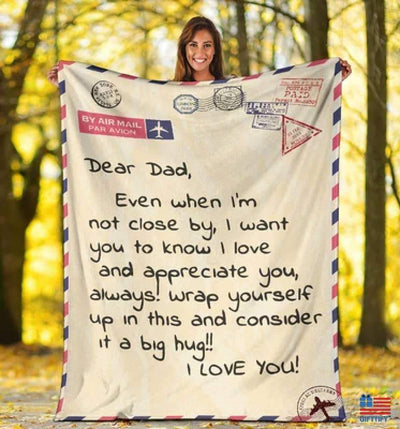 From Child With Love, To My Dad Blanket