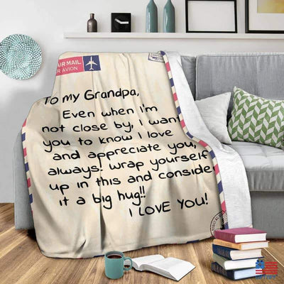 To My Grandpa Blanket