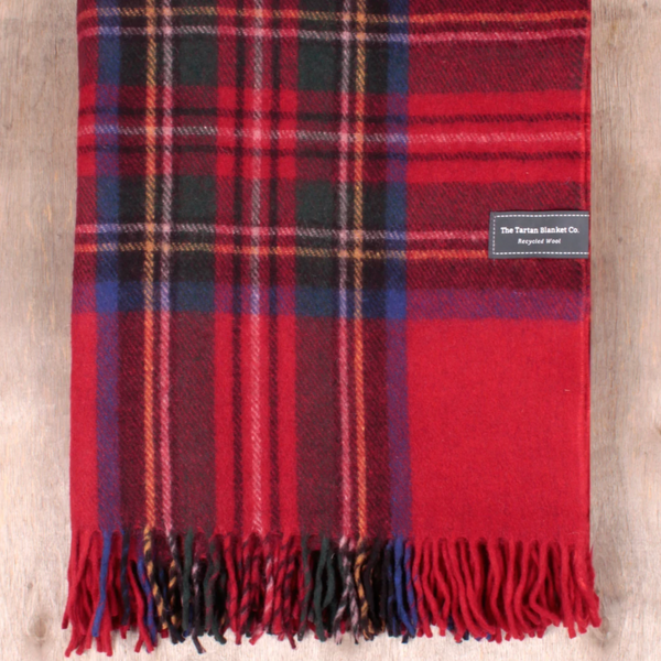 The Tartan Blanket Co. Stewart Royal Tartan Recycled Wool Blanket