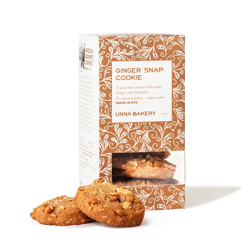 Unna Bakery Ginger Snaps Cookie Box