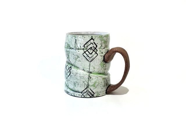 Green and Black Mug