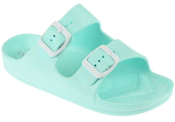 Girls Mint Double Strap Slip-On Sandal