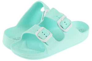 Girls Mint Double Strap Slip on Sandal