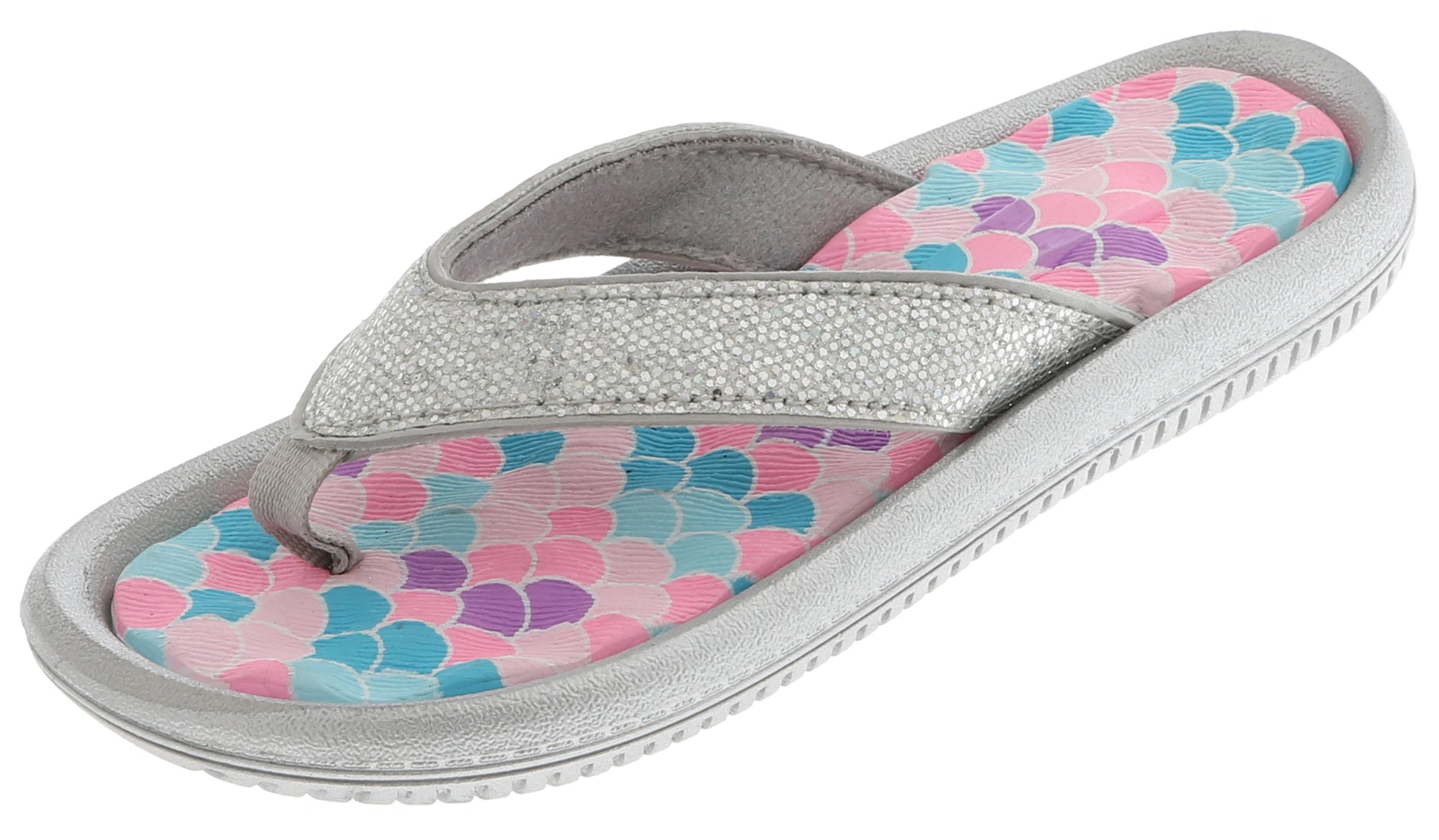 Girls Glitter Mermaid Flip Flop